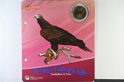 2008 Australian Wedge Tailed Eagle $1 Coin Perth Mint - Young Collectors - UNC