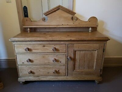 Antique Victorian Pine Dresser Base