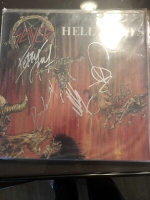 Slayer Original Line Up Very Rare Fully Signed  Hell Awaits Lp.