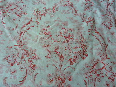 Pretty Vintage French Cotton Toile Print Cushion Cover Pillow Sham