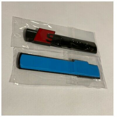 Gloss Black RS Quattro S-Line SLine Badge Emblem Sticker Side Wing Fender