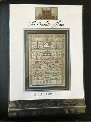 The  Scarlett house smith sampler cross stitch pattern