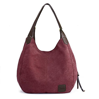 Women's Everyday Casual Shoulder Bags - Canvas Hobo Handbag Cotton Totes Purses