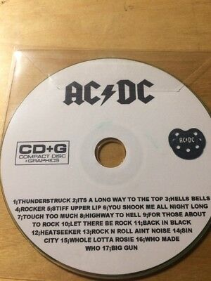 Ac/dc Karaoke Cd+G Backing Tracks