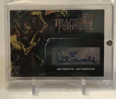 Robert Foxworth As Ratchet Topps Transformers Autograph Auto Card W/ Screw Case
