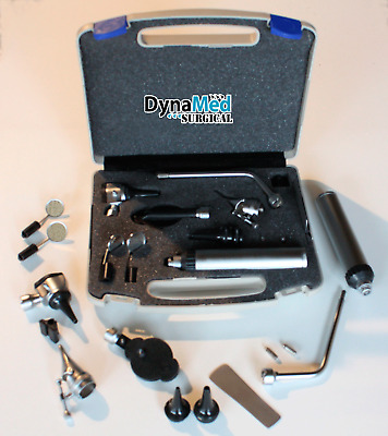 ENT (Ear,Nose &Throat) Diagnostic,Otoscope,Ophthalmoscope set W/hard Case