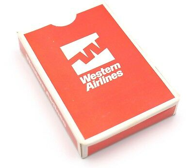 Old Vintage Western Airlines Airline Collector Playing Cards Unopened In Box