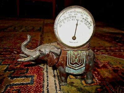 Vintage Metal elephant thermometer made in USA