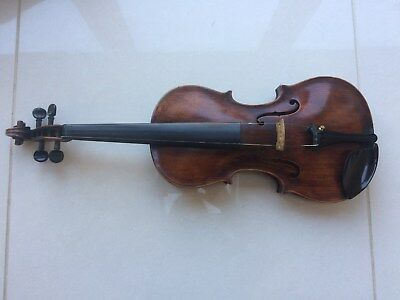 Antique vintage old full size violin c 1920 Saxon or Bohemian with case 2 bows