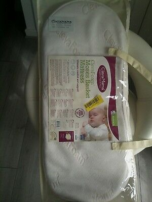 Clevamama Clevafoam Moses Basket baby Support Mattress 74 x 28 Memory Foam