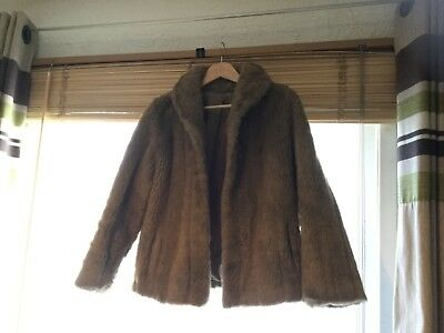 Astraka Vintage Beige Faux Fur Coat Very Good Condition Low Price - Size 12