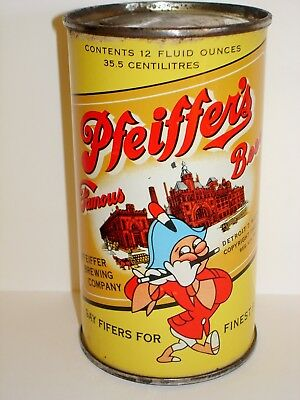"PFEIFFER'S ""WHITE SHOES"" FLAT TOP Beer Can A327"