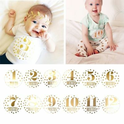 Baby Memory Monthly Photograph Sticker Photo Book First Month 1-12 Milestone New