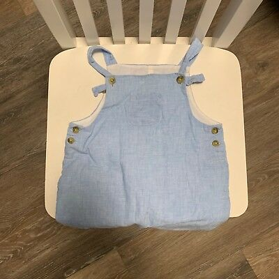 JANIE AND JACK light blue romper one-piece size 6-12 months boys infant toddler