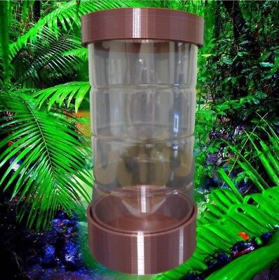 3 PACK Insect House (Mantis, Stick Insect, beetle) Upcycle your Bottles - Brown
