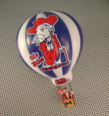 Rare Ole Miss Rebels Colonel Reb 2004 Danbury Mint Christmas Ornament Balloon