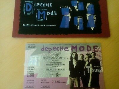 Depeche mode devotional tour 1993 Crystal Palace ticket both parts with wallet