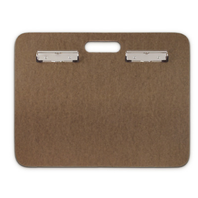 "Saunders 05609 Double Clip Board Recycled Hardboard Sketchboard 18"" x 14.50"""