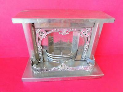 Antique Miniature Metal Fireplace German French Silver Penny Toys Adrian Cooke