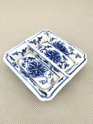 Impressive 19th antique  Old Chinese blue and white brush washer