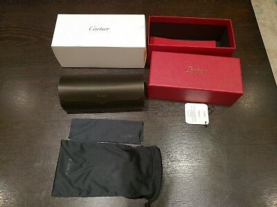 CARTIER Glasses Case with box, case, pouch, cleaning cloth and booklets