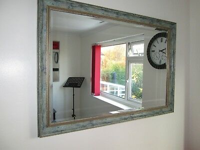 Quality Large Wall Mirror 1.02Mtrs x 0.71Mtrs Perfect Condition, Green frame