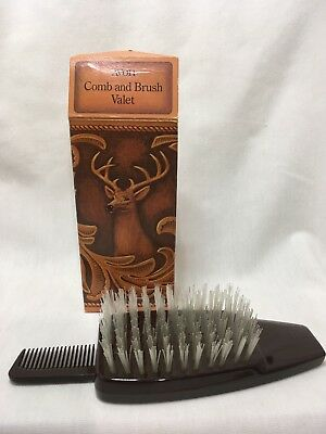 Vintage Collectible Avon Comb Brush Valet Brown Deer 181143