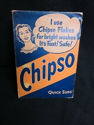 Vintage CHIPSO Flake Laundry Soap. Unopened. Procter and Gamble. 1930's.