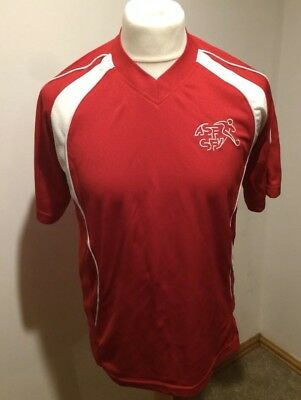 Suisse Switzerland Football Training Top Size Small Red World Cup