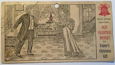 Antique Advertising Card - Old Prentice Whisky -Lawrenceburg, Kentucky KY