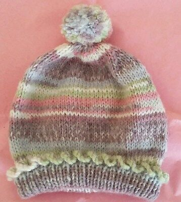 e73e771f45f NEW Hand Knitted Newborn Baby Pom Pom Hat 0-6 Months Made from Sirdar  Snuggly