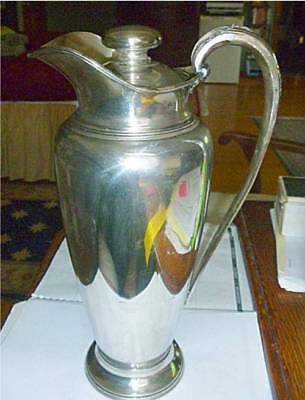 Large Wilcox/international Silver Art Deco Pitcher With Lid (Silver Plate)
