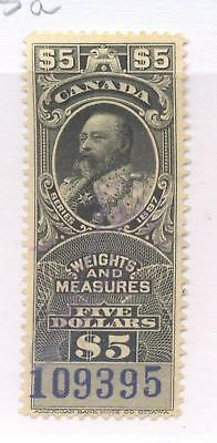 Bengphil Canada Revenue FWM55a fiscal stamp Weights and Measures purple numbers