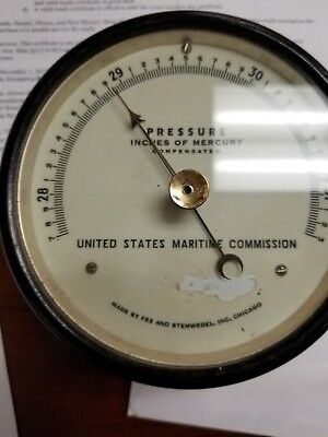 ww2 Vintage  US Maritime commission barometer   in working order !!