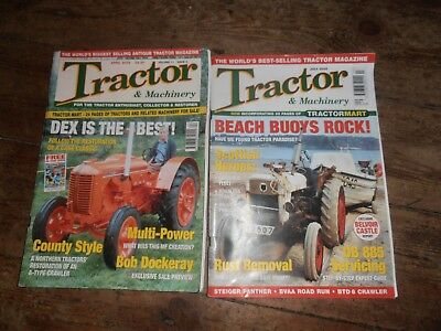 2 Tractor & Machinery magazines, 2005, April + July. Dexters / Fergies/ vintage