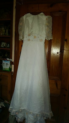 Lovely True Vintage Wedding /bridesmaid Dress Size 8-10 Kleemeire Hof