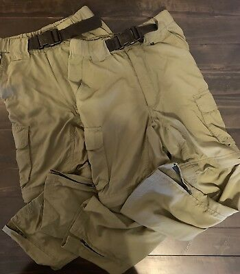 2 Boy Scouts BSA Youth Switchback zip off Cargo Pants Shorts Camping XS X-small