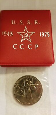 1945 - 1975 Ussr Soviet 1 Ruble Russian Coin * 30 Years Victory Patriotic War