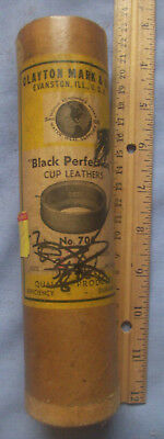 Antique Vintage Lot of 9 Clayton Mark & Co Cup Leathers Pitcher Pump Gaskets