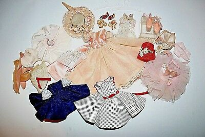 Vintage Madame Alexander Doll Cissette Lot Tagged Dresses Shoes Hats Glasses