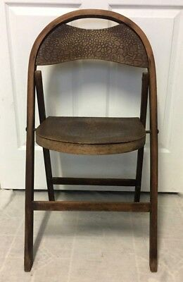 Antique 1920s Vintage Solid Kumfort Louis Rastetter & Sons Wood Folding Chair