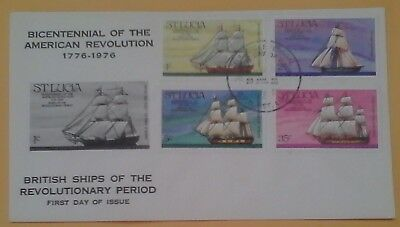 First day of issue, 1976 from St. Lucia, Bicentennial American Revolution, Se-te