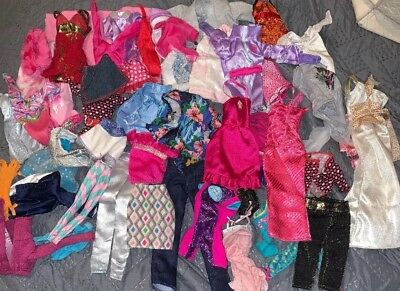 Barbie And Other Fashion Doll Clothes Clothing Accessories Lot 52pcs
