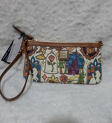 Beauty And The Beast Disney Dooney And Burke Wristlet
