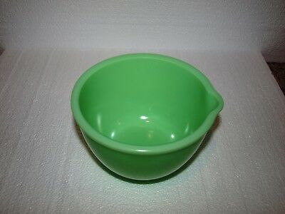 Vintage Small Jadeite Mixing Bowl with pour spout