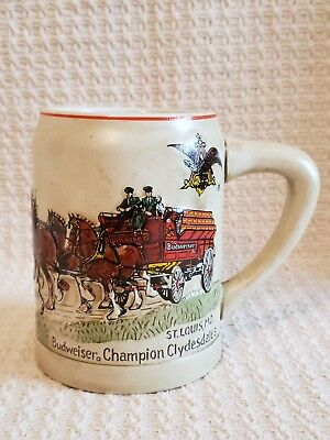 1980 Budweiser Champion Clydesdale's Holiday Beer Stein