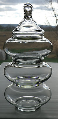 Anchor Hocking Pagoda Apothecary Stackable 3 tiered Glass Storage Jars