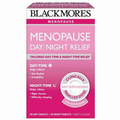 Blackmores Menopause Day and Night Relief 60 Tablets expires April 2019