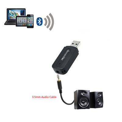 Bluetooth Wireless 3.5mm AUX Audio Car Receiver Home Stereo Music Adapter