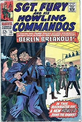 Sgt. Fury And His Howling Commandos #35 Silver Age!! Marvel Comics 1966